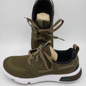 Sperry 7 Seas 3-Eye Olive Sneaker Size 5.5